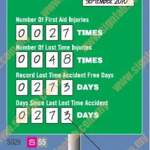 Safety Statistic Signs